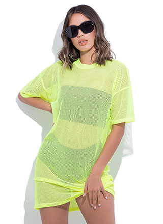 Holes In One Sports Mesh T-Shirt Dress