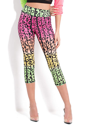 Wild About Cropped Leopard Leggings
