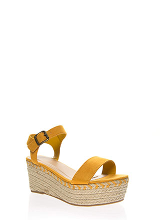 Party Platform Espadrille Wedges