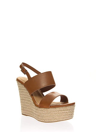 Tall Order Braided Platform Wedges