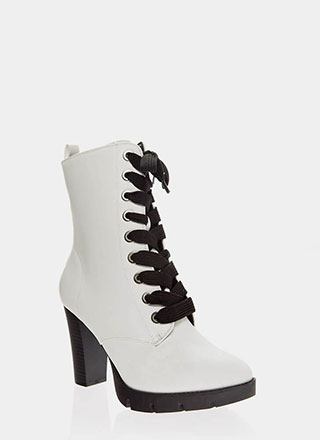 High Command Chunky Lace-Up Booties