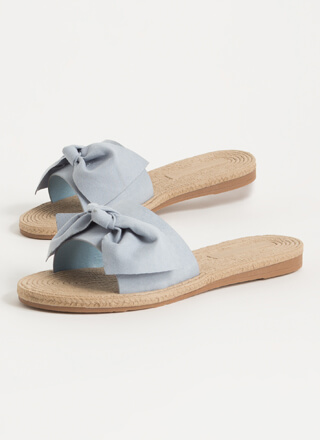 Bow-So-Cute Faux Braided Slide Sandals