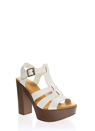 a3afc9bc19 Vacation Days Chunky Strappy Platforms