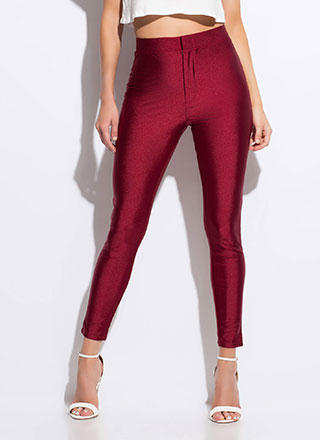 The One That I Want Nylon Skinny Pants