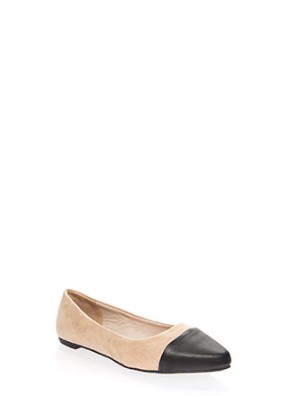 Keep Me On My Toes Faux Suede Flats