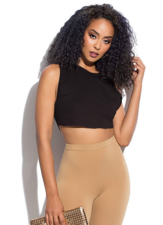 Hey Shorty Cropped Muscle Tank Top