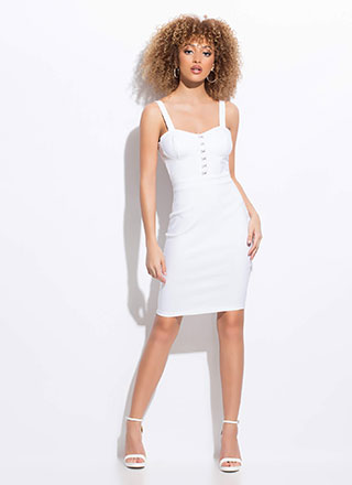 Hooking Up Sweetheart Midi Dress