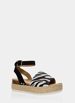 Like An Animal Braided Platform Sandals