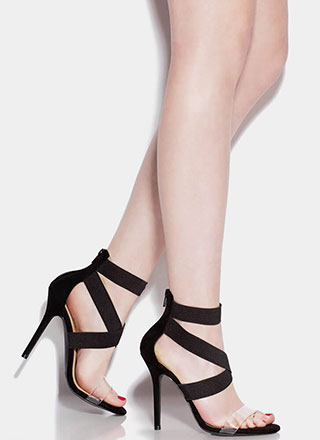 Clear The Air With My X's Strappy Heels