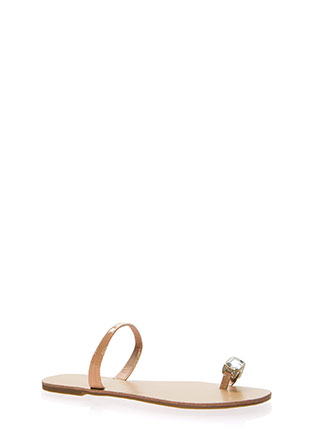 Put A Ring On It Faux Jewel Sandals