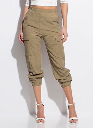 It's So Easy Cotton Cargo Joggers