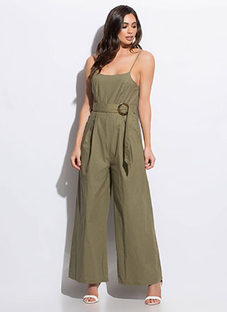 The Weekender Belted Palazzo Jumpsuit
