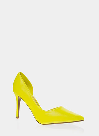 Best Side Story Pointy Cut-Out Pumps