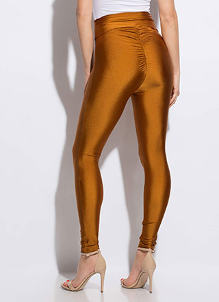 Put It In Reverse Ruched Nylon Leggings