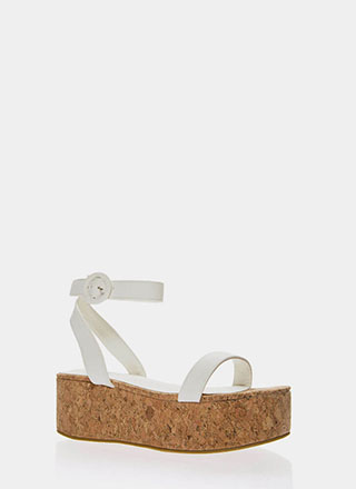 High Time Cork Platform Sandals