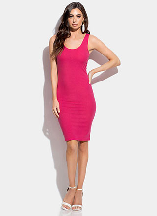 Tank You So Much Rib Knit Midi Dress
