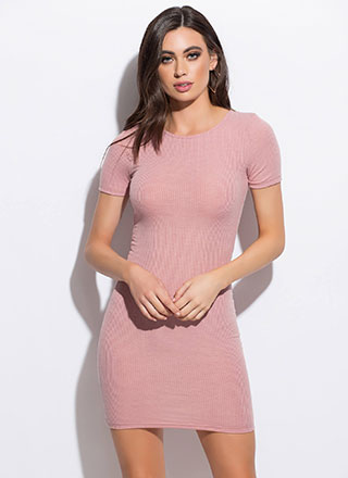 How Do You Figure Rib Knit Minidress