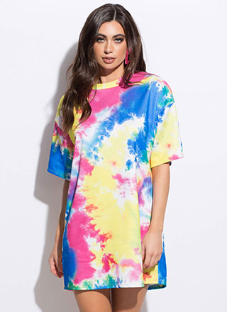 Make A Splash Tie-Dye T-Shirt Dress