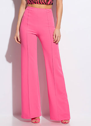 Stand Tall High-Waisted Wide-Leg Pants