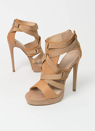 Harness Your Power Strappy Cut-Out Heels