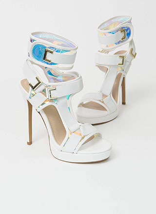 Harness Your Gift Banded Platform Heels