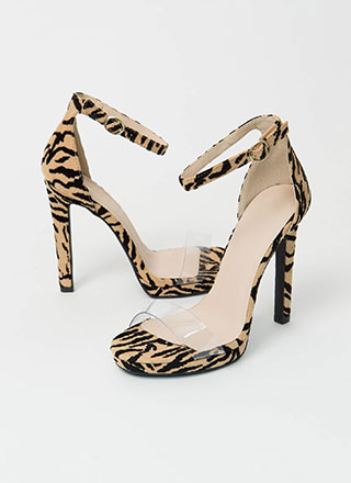 Tiger Tales Clear Strap Animal Heels
