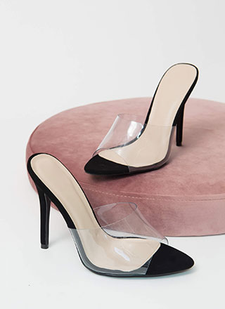 Clear The Way Peep-Toe Mule Heels