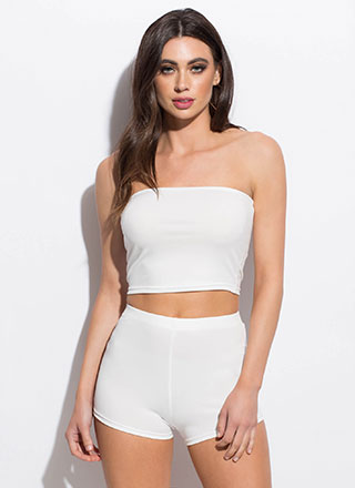 Too Easy Tube Top And Shorts Set