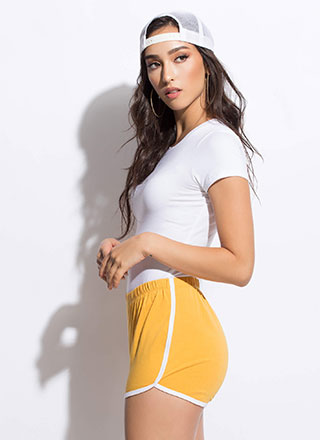 Athletic Girl Sporty Striped Shorts
