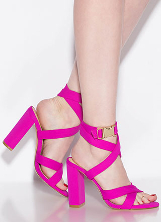 X Games Strappy Chunky Buckled Heels