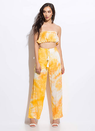 On Hiatus Tie-Dye Top And Pant Set