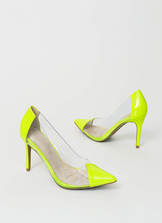 Clear And To The Point Illusion Pumps