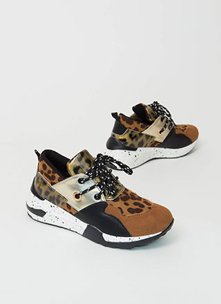 Animal Instinct Mixed Media Sneakers