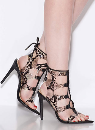 d36edf572ae Sexy Strappy Heels - Single, Gladiator, or Cages Strappy Heels for Less