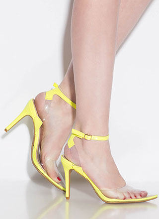 Clear History Pointy Illusion Heels