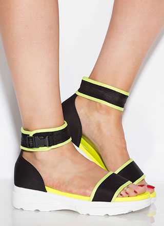 Sneak Attack Sporty Platform Sandals