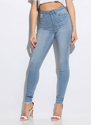High Rise High-Waisted Skinny Jeans
