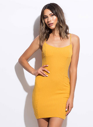 Totally Bust-Have Rib Knit Midi Dress