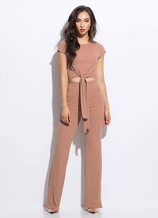 Give It Another Tie Top And Pant Set