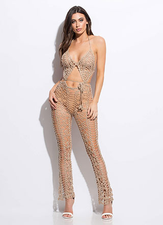 Catch Me If You Can Netted Jumpsuit