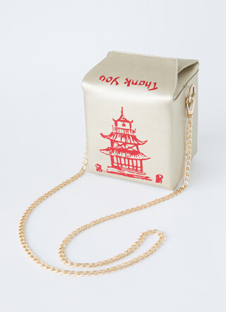 Satisfy Your Hunger Takeout Box Purse