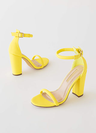The Answer Chunky Ankle Strap Heels