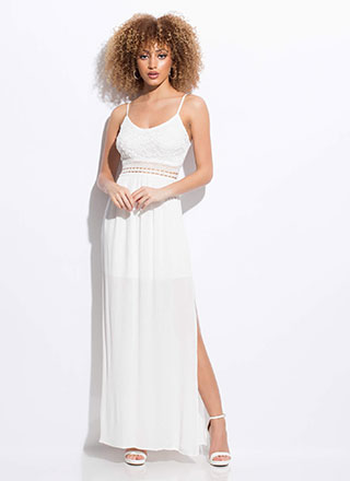 Goddess Almighty Lace Top Maxi Dress