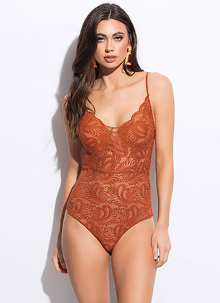 Pretty In Paisley Lace Bodysuit