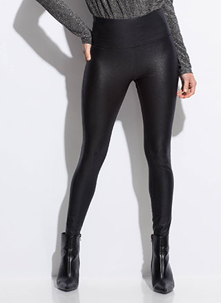 Hello Moto Coated High-Waisted Leggings