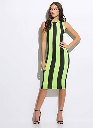 Stunning Statement Striped Midi Dress