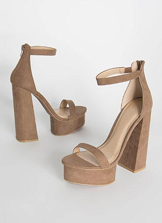 Retro Vibe Chunky Faux Suede Platforms
