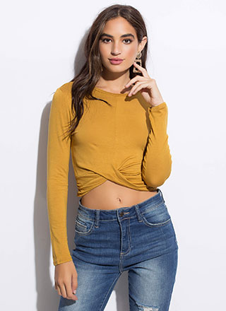 Twist To The Story High-Low Crop Top