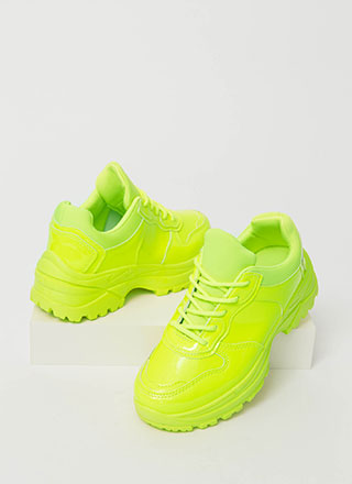 Tread Brightly Sporty Platform Sneakers