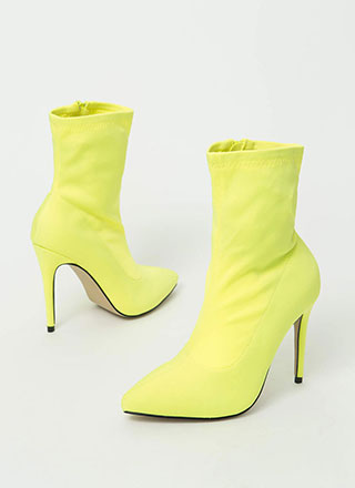 Yes Girl Pointy Snake Print Booties
